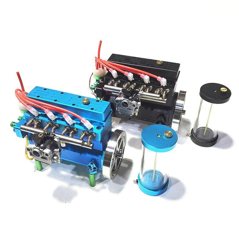 Gasoline Engine Inline Four-cylinder Model Inline Four Cylinder Engine RC Car Model Aviation Model Ship Model Power Plant GN-G10