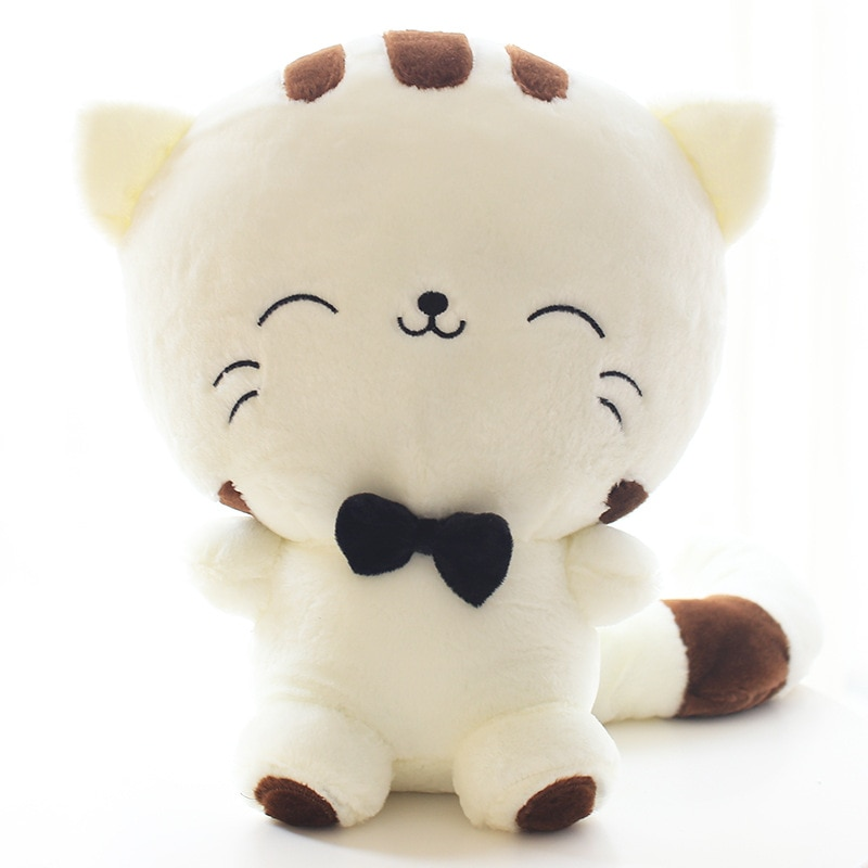 dropshipping cute kawaii cat with bow plush dolls toys gift stuffed soft doll cushion sofa pillow gifts xmas gift party decor 20CM Cute Kawaii Cat with Bow Plush Dolls Toys Gift Stuffed Soft Doll Cushion Sofa Pillow Gifts Xmas Gift Party Decor