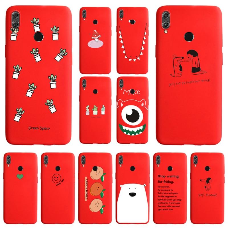 Funda de silicona blanda con dibujos para Huawei Honor 8 8A 8C 8X 9 9i 2018 9X V9 MATE 10 20 Lite Nova 3 2 Plus 3i 4 5 5i Pro