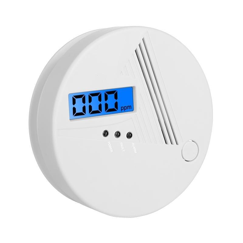 Sensor LCD CO trabaja solo integrado 85dB sirena sonido independiente Detector de envenenamiento por monóxido de carbono Detector de alarma de advertencia