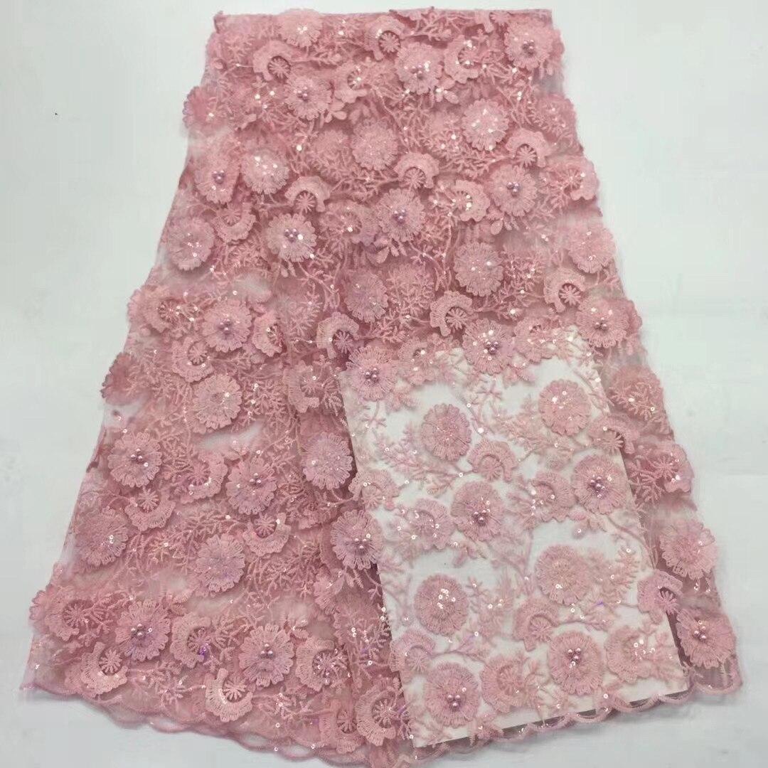 Nigeria lentejuelas encaje tela de alta calidad 2020 de encaje tul africano tela de encaje de la boda de encaje francés tejido D3808