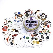 20 Styles Dobble Spot It Toy Iron Box 55 Cards Sport Fun Family Animals Jr Hip Kids Board Game Gift