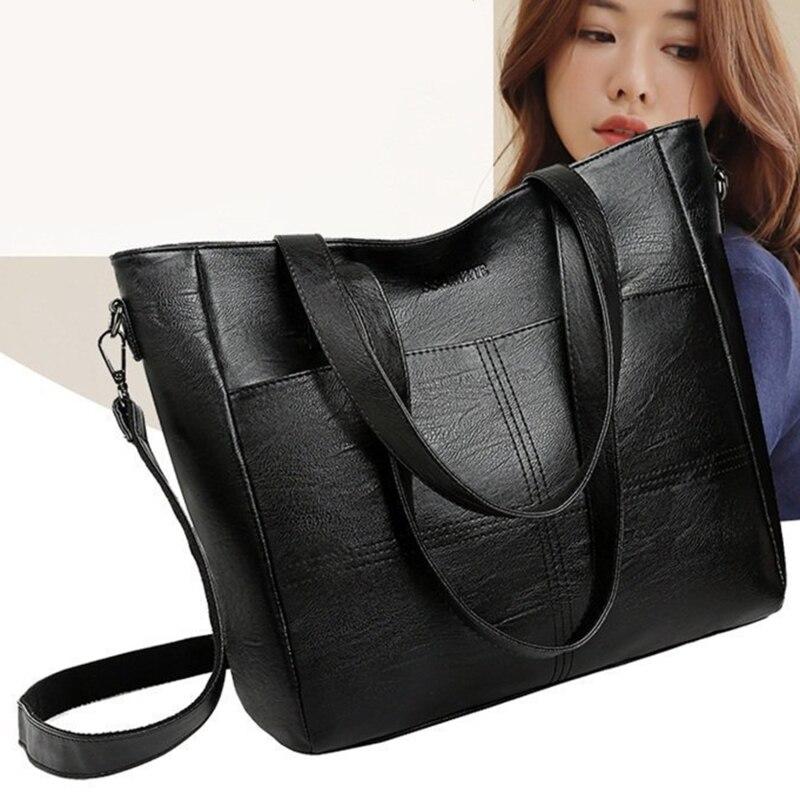 Luxury Handbag Women PU Leather Shoulder Bag Large Capacity Top-handle Bag Vintage Crossbody Bag Bra