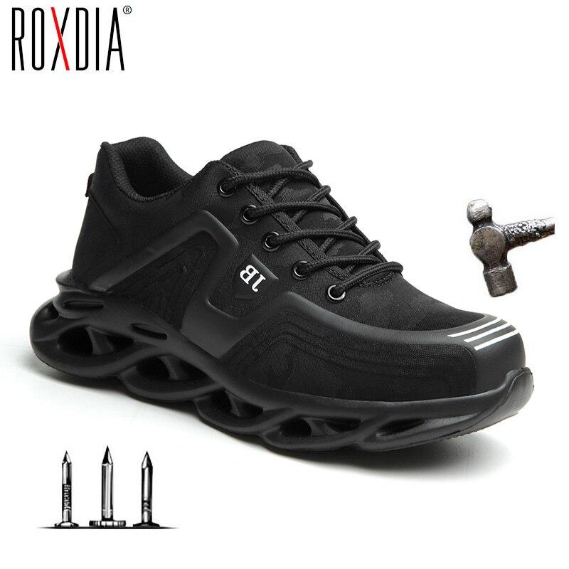 O transporte da gota de aço toe sapatos de trabalho moda para homens mulher sapatilha ultraleve malha industial sapatos de segurança mais tamanho 37-48 rxm179