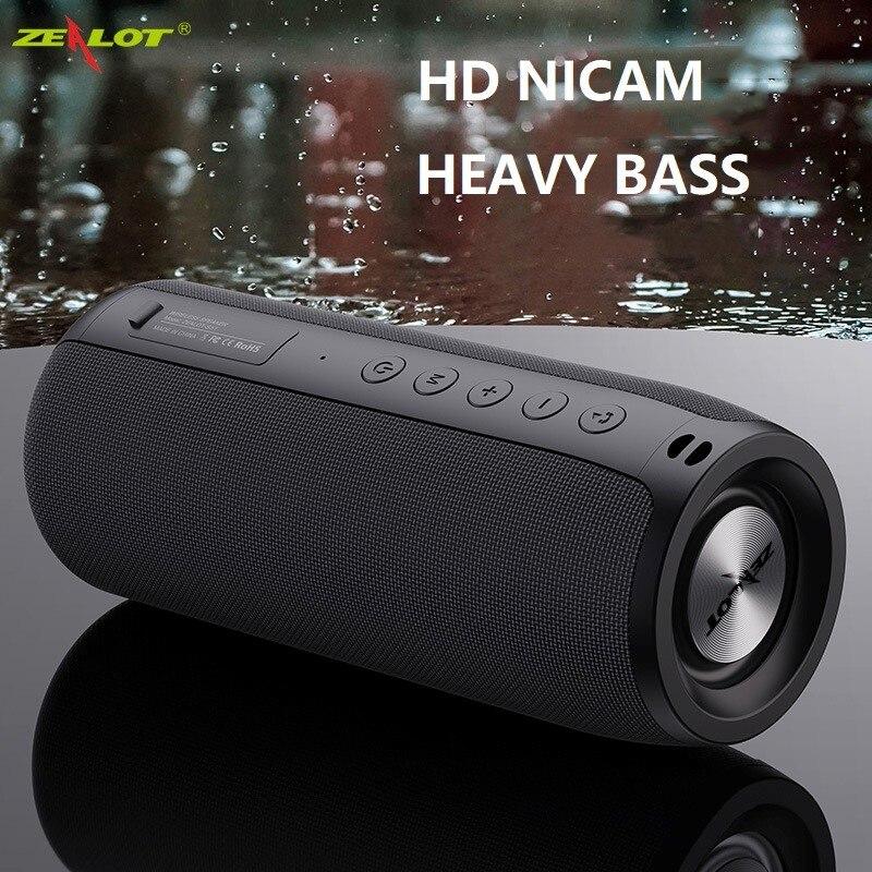 ZEALOT S51 قوي سمّاعات بلوتوث باس لاسلكي مضخم صوت محمول مقاوم للماء صندوق الصوت دعم TF ، TWS ، محرك فلاش USB