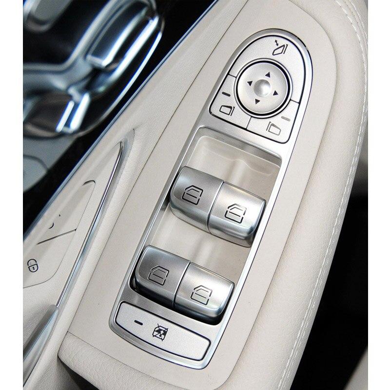 Interruptor de botón elevador de vidrio para ventana interior de coche para Mercedes Benz Clase C W205 C180 C200 C260 C300 C63 W204