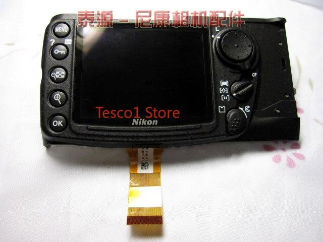 Оригинальная задняя крышка D300, задняя крышка корпуса, чехол с ЖК-дисплеем и кнопкой меню функции, гибкий кабель FPC для Nikon D300