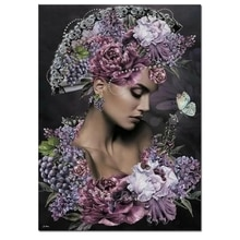 diamond embroidery iris flower woman cross stitch Diy diamond painting sale European sexy beauty 3d
