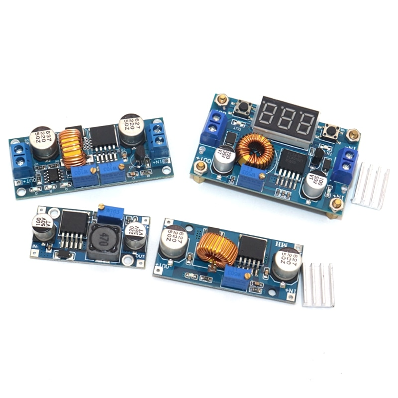 DC-DC Buck Converter 5A Adjustable Step Down Module LM2596 3A Power Supply Output 1.25V-30V