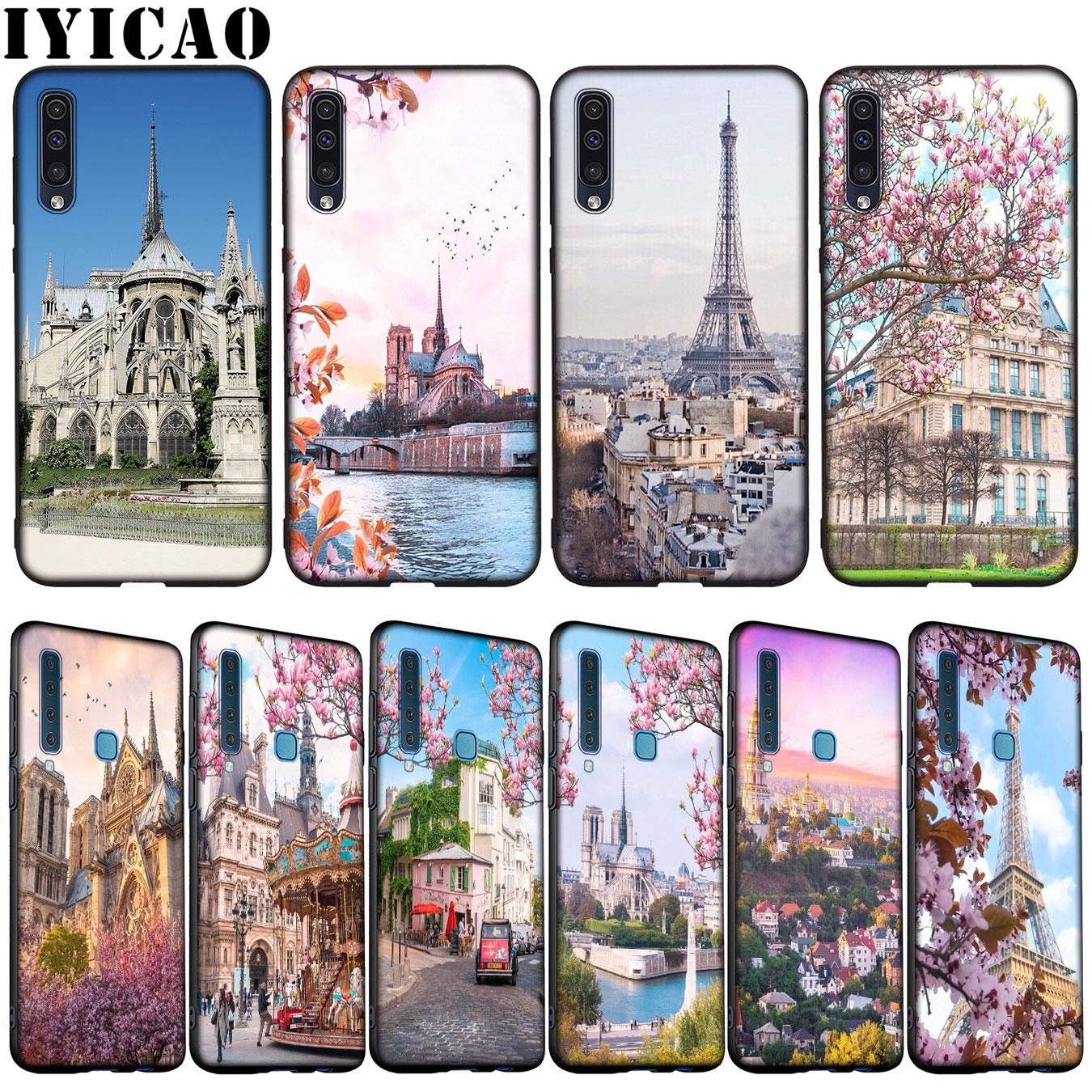 Romántica ciudad de París fantástico paisaje suave caso para Samsung Galaxy A70 A60 A50 A40 A30 A20 A10 M10 M20 M30 M40 A20E