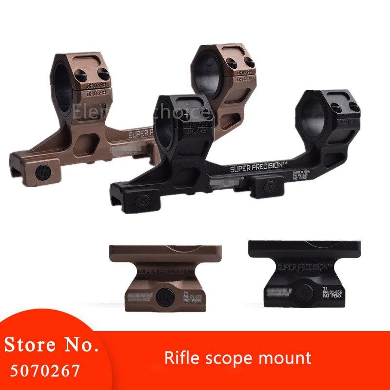Pistola táctica AR15 Rifle óptico Scope Mount 25,4mm/30mm QD anillos montaje T1/T2 soporte para 20mm Picatinny Rail