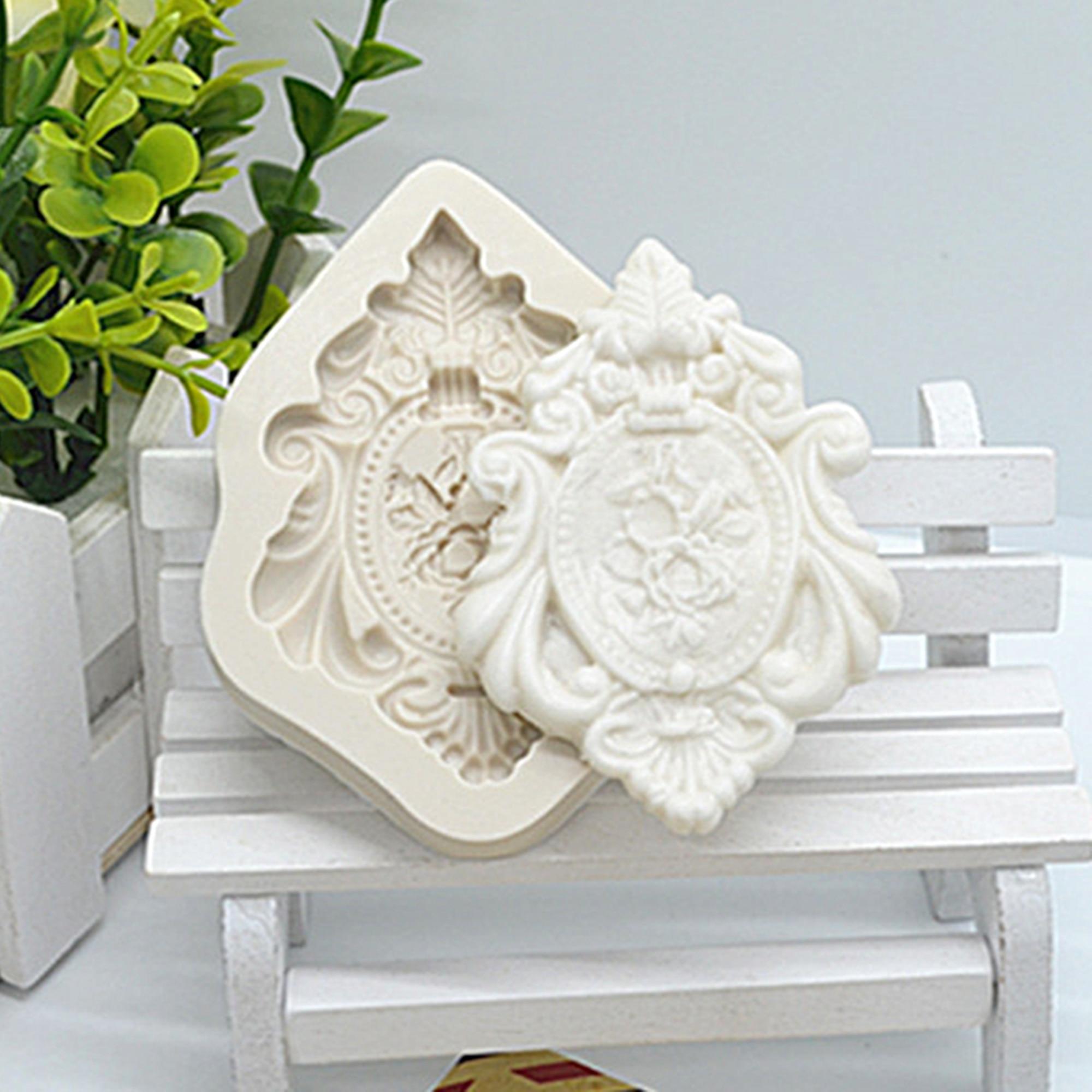 Европейская рельефная кружевная форма, формы для помадки и торта, форма для шоколада для кухни, силиконовые инструменты для украшения торта...