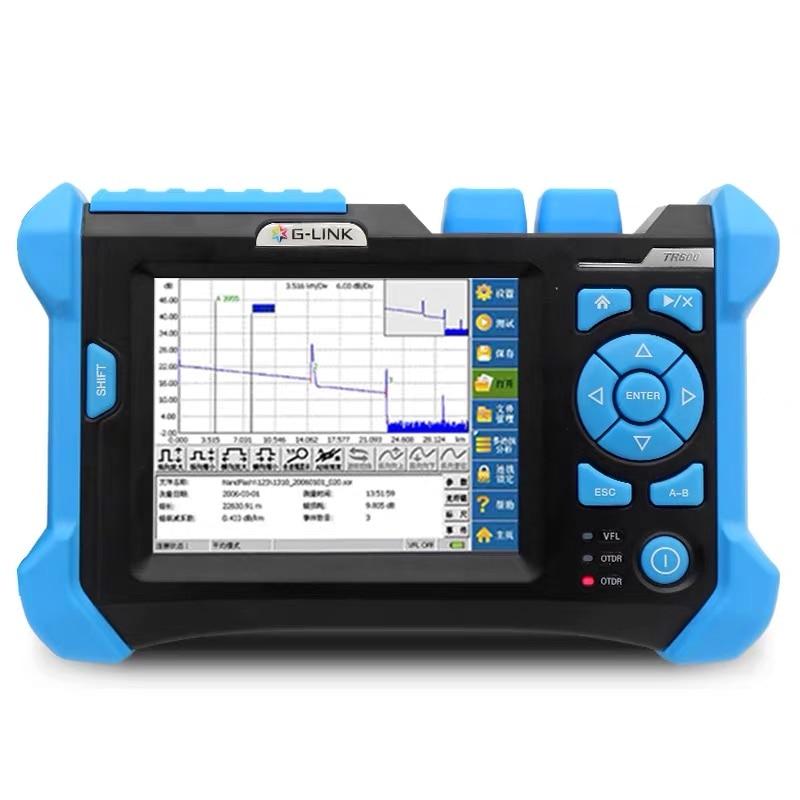 Testador de cabo glink 850/1310/1550nm, 21/19/28db sm & mm preço otdr com inglês + espanhol línguas