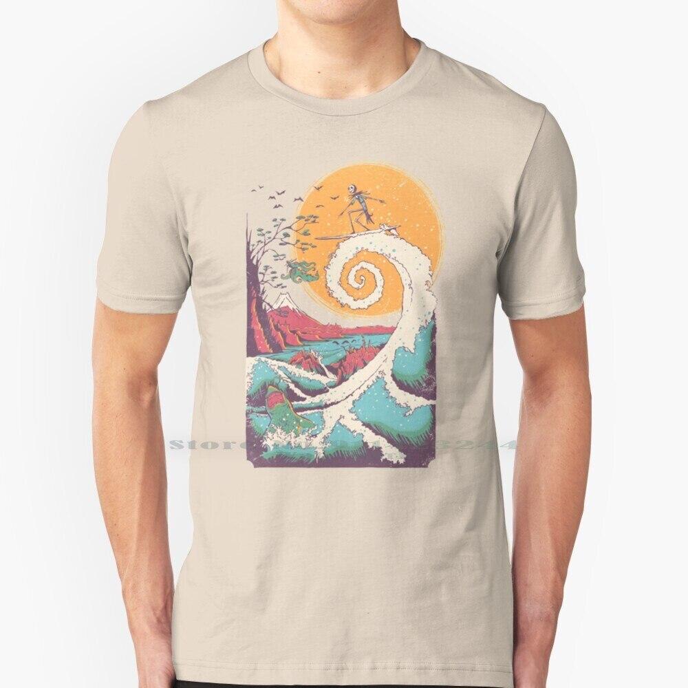 Surf antes de Navidad T camisa 100% de algodón puro de Tim...