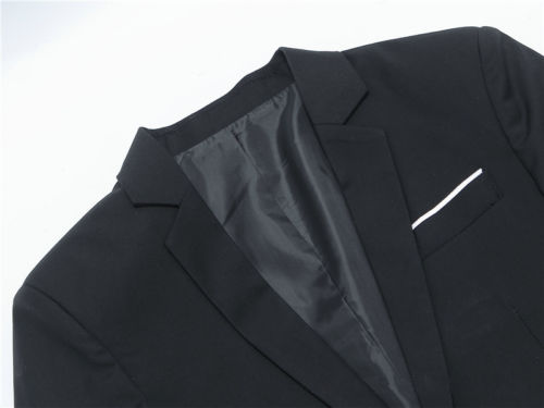 Imcute Men's Casual Blazer Slim Fit Formal One Button Suit Long Sleeve Cotton Blend Solid Basic Coat Jacket Top Plus Size S-4XL