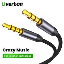 3.5MM Jack AUX Audio Extension Cable With Microphone Stereo Headphone Splitter Earphone Adapter Cabl