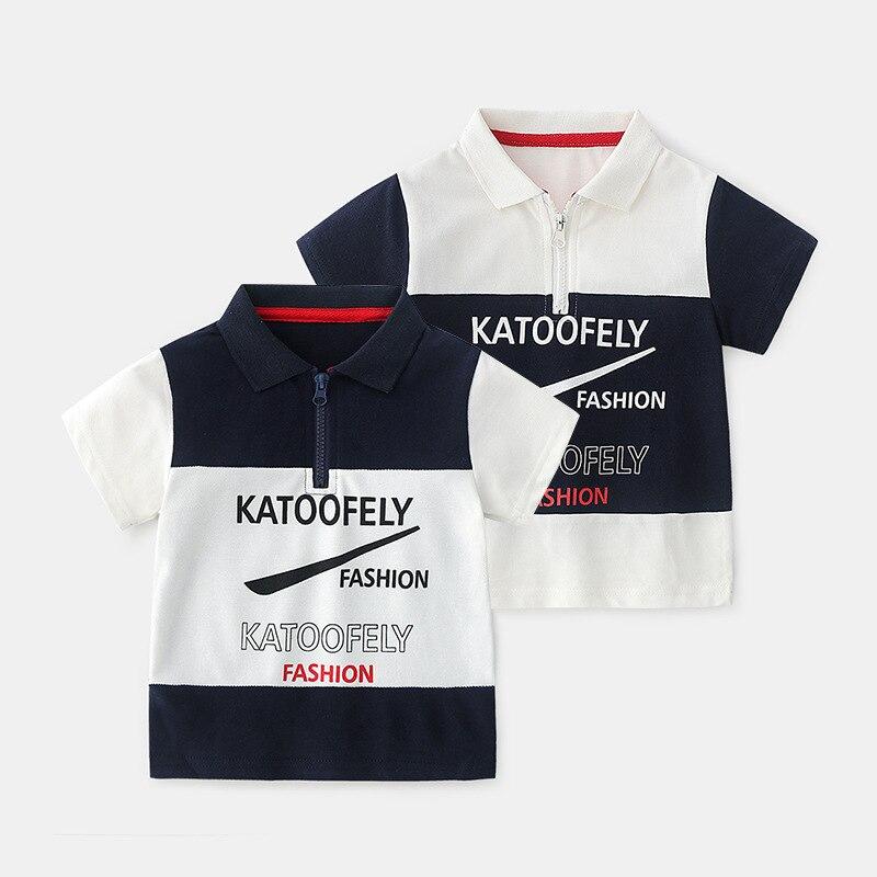Summer Boys Polo Shirt Short Sleeve Boys Cotton Polo Shirts Patchwork Kids Tops Baby Shirt For Kids