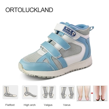 Ortoluckland Children Boys Sneakers Orthopedic Running Shoes For Kids Toddler Girls Fashion Pink Sporty Solid  Casual Footwear