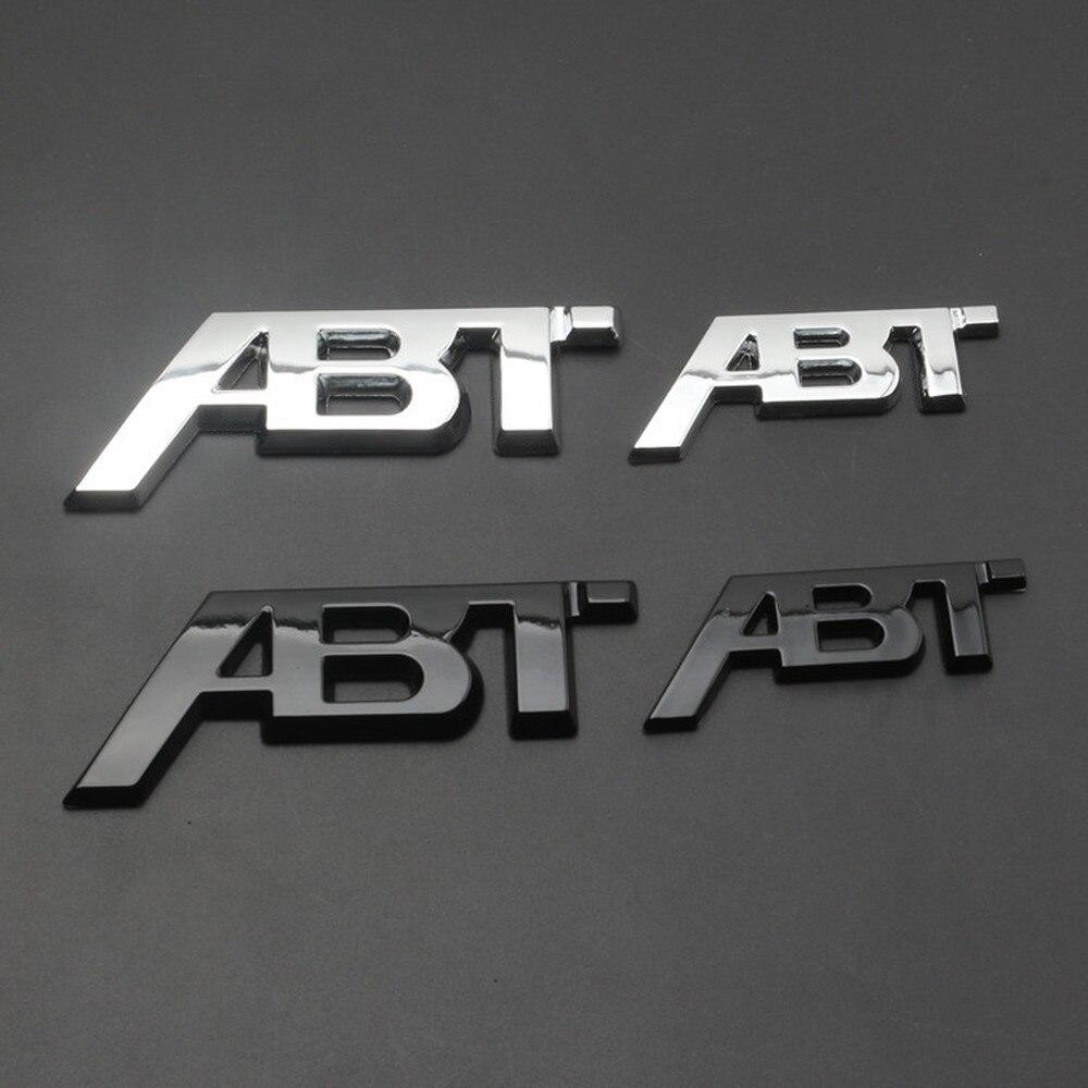 Chrome Silver Glossy Black ABT 3D Adhesive Rear Side Body Car Badge Emblem Stickers Logo for Audi VW