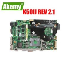 K50IJ carte mère pour ordinateur portable For For For For Asus X5DIJ,K60IJ,K40IJ,X8AIJ rev 2.1 USB 2.0 DDR2 carte mère 15 pouces 100% testé