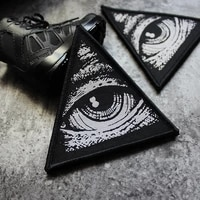 full embroidery triangle velcro chapter eye of god color armband all seeing eye morale chapter diy patch chapter