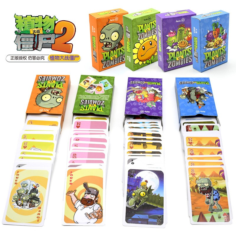 New PVZ Plants Vs Zombie Characters Poker Cards Pvz Game Card Poker Game Board Game Card Creative Gift astronaut the crew board game for the quest for planet nine english version poker card game