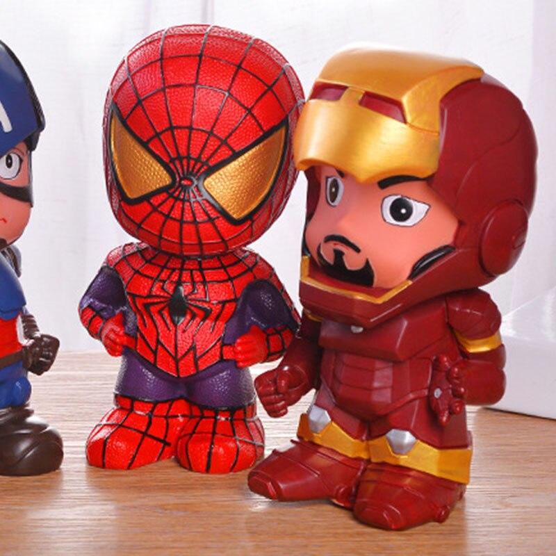 Hucha para adultos Alcanscia creativa, ahorro seguro, Spiderman Batman, Iron Man, Capitán América, caja de dinero, moneda de Chico, dibujos animados