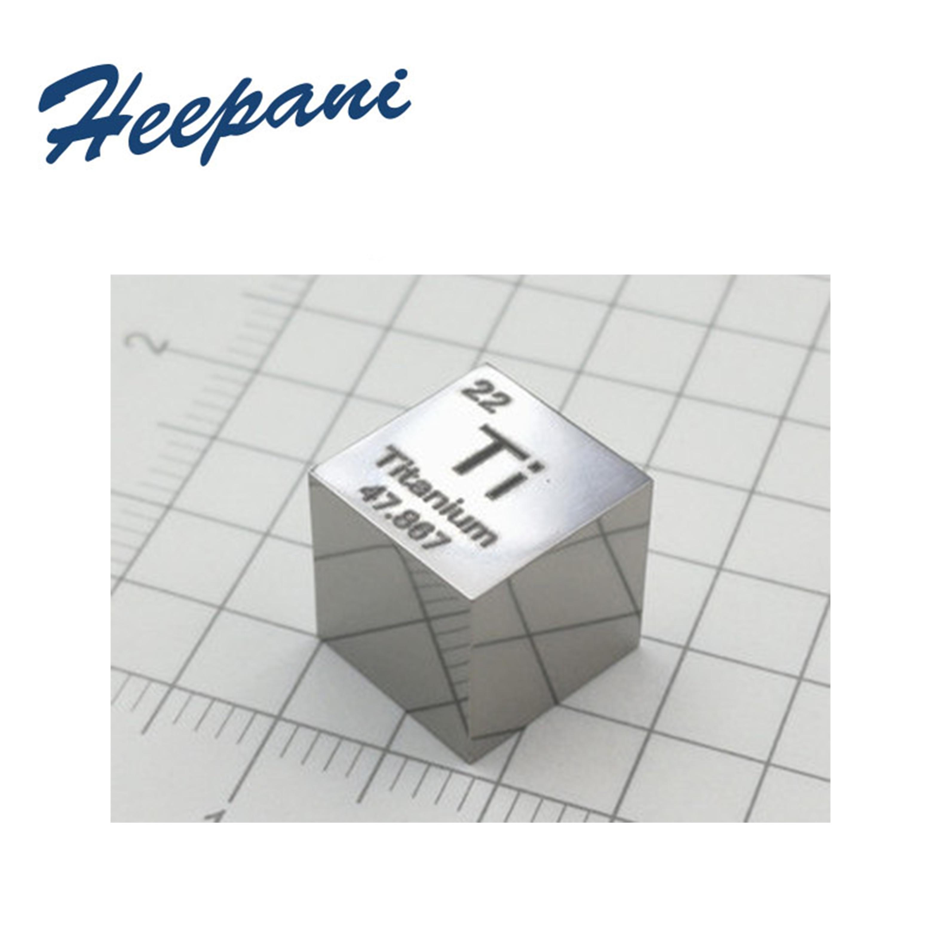 Бесплатная доставка, титановый металлический куб, 10X10X10 мм, зеркальный полированный резной элемент, куб для промежуточного стола Ti 99.5% чисты...