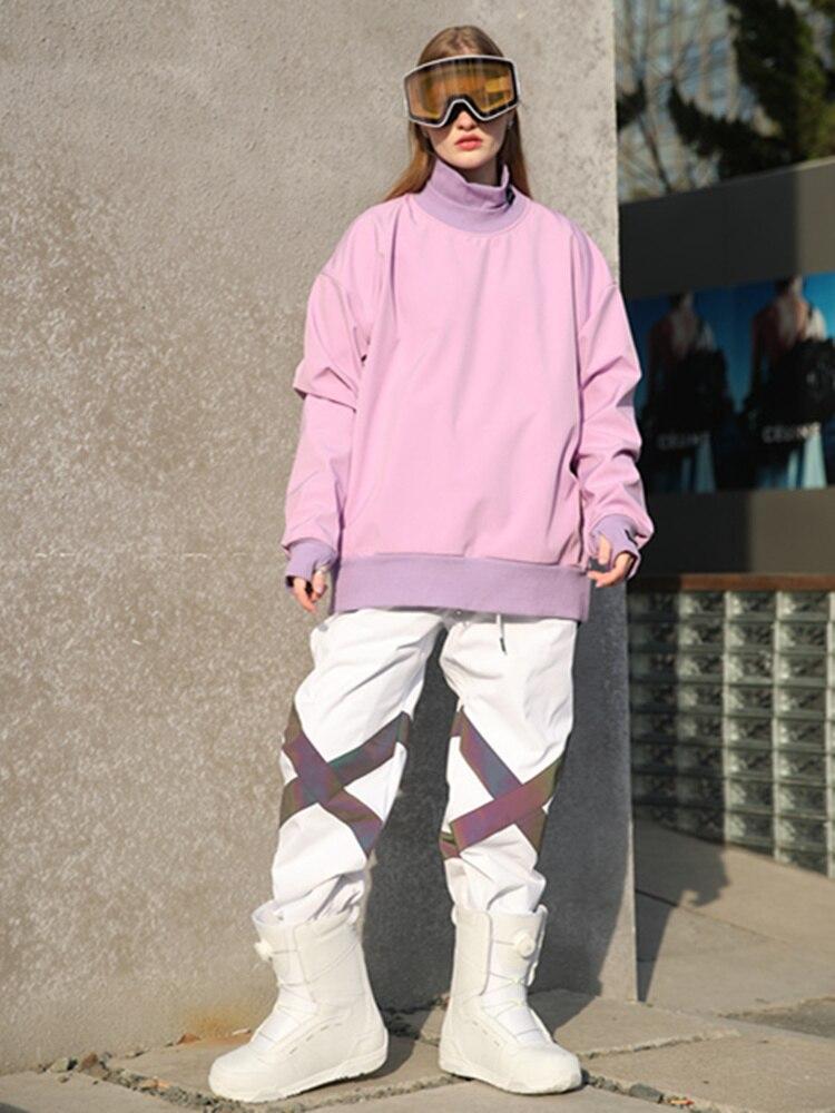 Menandженский водонепроницаемый свитер Лыжная куртка с высоким воротником Сноубординг