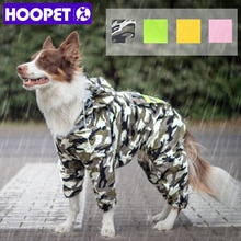 HOOPET Dog Raincoat Jumpsuit Rain Coat for Dogs Pet Cloak Labrador Waterproof Golden Retriever Jacke