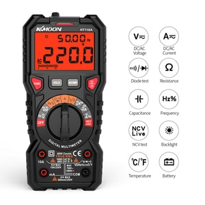 HT118A Digital Multimeter Auto Range Multi-meter 6000 Counts True RMS Measuring AC/DC Resistance Capacitance NCV Test Diode