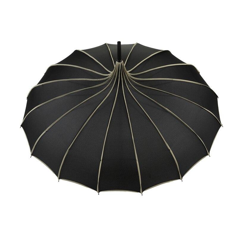 Paraguas Vintage Pagoda, sombrilla de protección UV para lluvia, sol, boda, fiesta, XH8Z