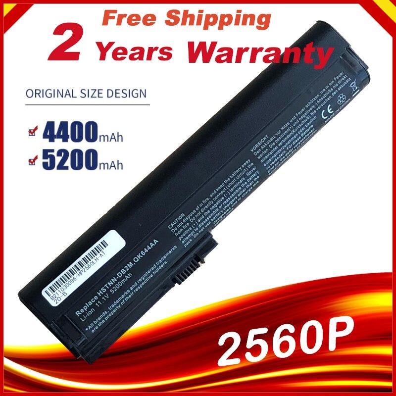 Аккумулятор для ноутбука hp EliteBook 2560p 2570P QK644AA QK645AA SX06 SX06XL SX09 HSTNN-C48C HSTNN-C49C HSTNN-DB2L