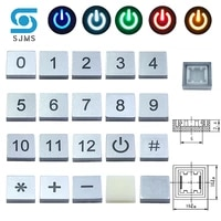 10pcs c10 led 1010mm square switch cap symbol cap for 66mm tactile momentary led tact push button switch digital icon cap