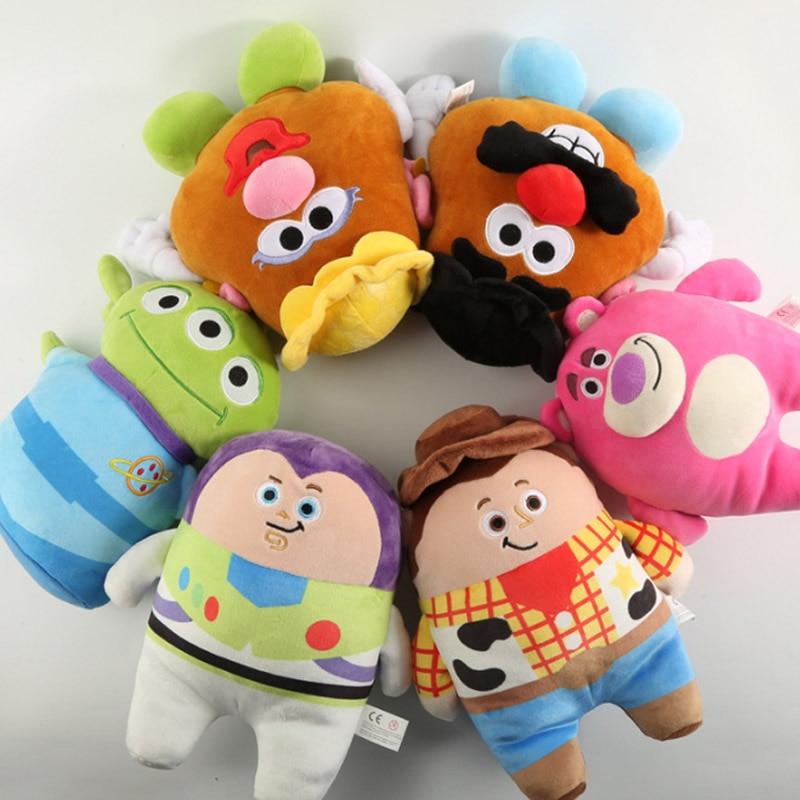 Super calidad 25cm Toy Story 4 Anime Forky Bunny amadered Alien Buzz Lightyear muñecas de peluche de dibujos animados