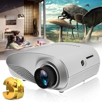1080P Mini PROJECTEUR LED Full HD 3D HD PROJECTEUR LED MULTIMEDIA Home Cinema USB VGA TV Systeme de CINEMA MAISON