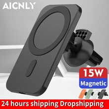 15W Magnetic Wireless Car Charger Mount Stand For iPhone12 Pro Max Mini Magsafing Fast Charging Wire