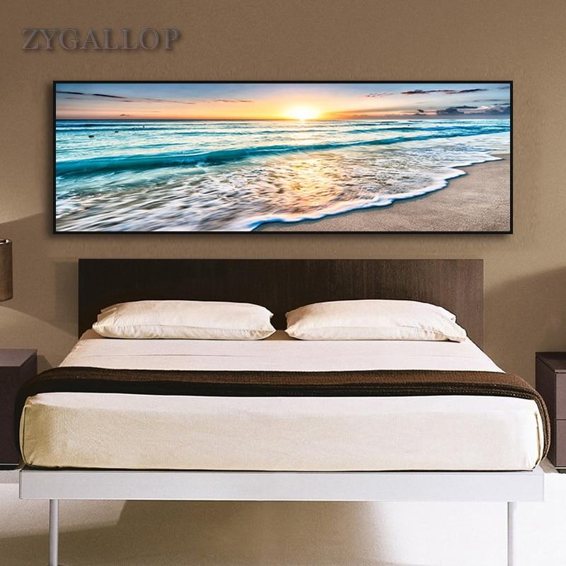 ZYGALLOP, pósteres de paisaje marino con paisaje de playa, lienzo de paisaje Natural, pintura de pared, cuadro de arte para decoración de dormitorio, cuadros