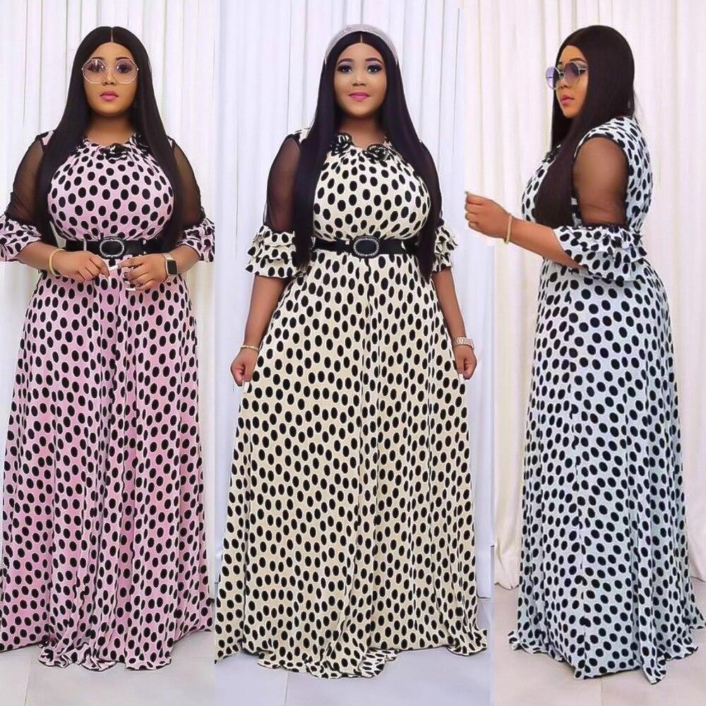 MD الأفريقية طباعة فساتين الشيفون المرأة قفطان فستان البوهيمي أنقرة Dashiki قصيرة الأكمام ثوب مسائي ملابس السيدات 2021 عباية