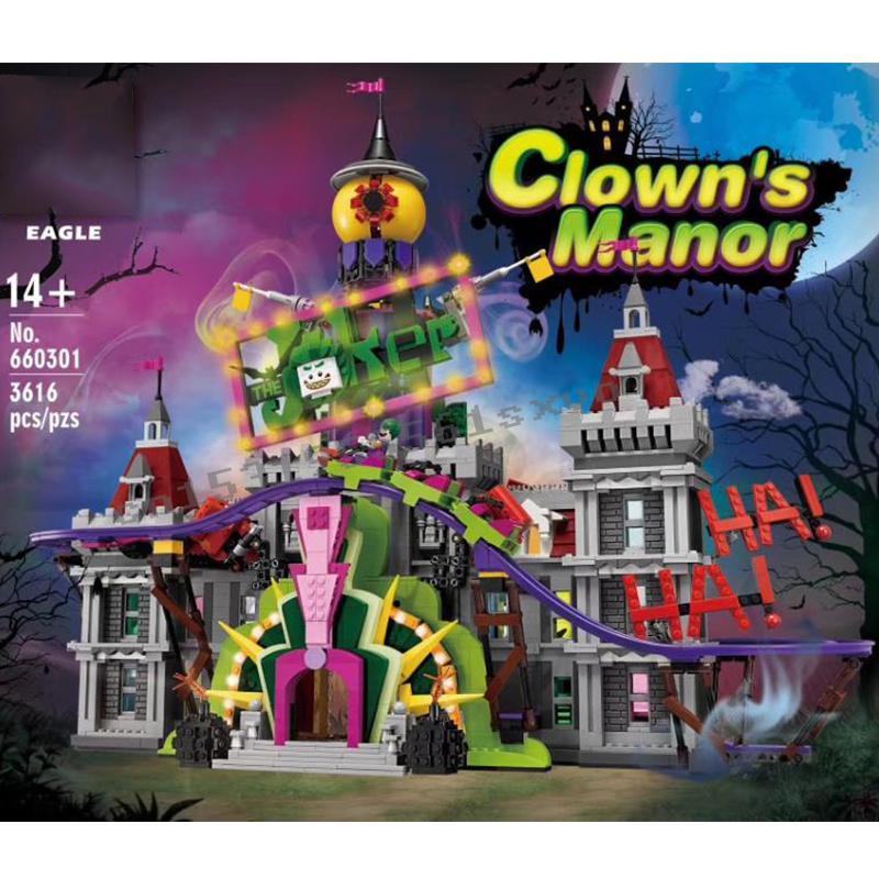 Lepining creador de la ciudad de expertos de vista a la calle MOC el Guasón Manor Park 3329 Uds de bloques de construcción ladrillos juguetes para los niños