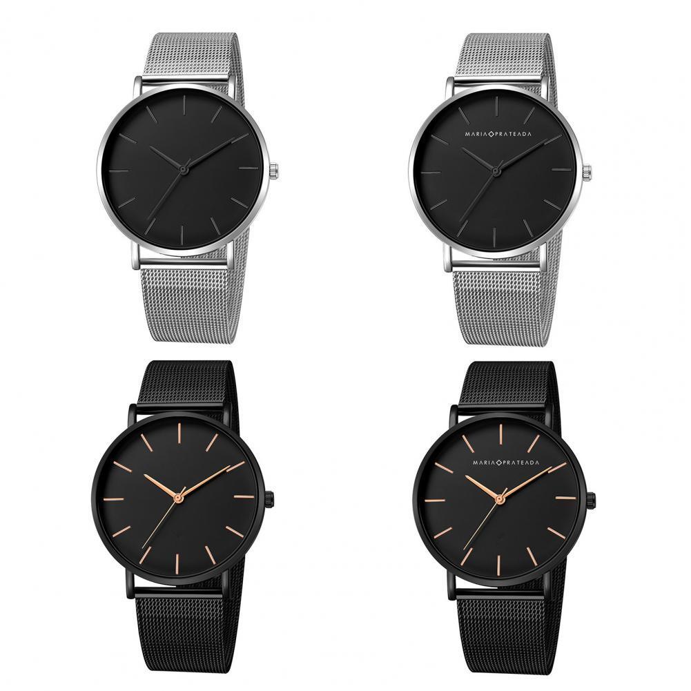 Couple Watch for Men Women Alloy Mesh Band Quartz Watch Unisex Waterproof Quartz Wristwatches Women