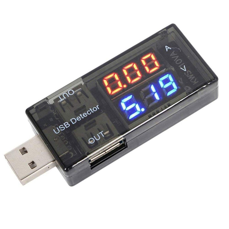 USB Detector Digital Multimeter Meter Power Tester Current Voltage Battery Monitor with LED Display for Power Bank