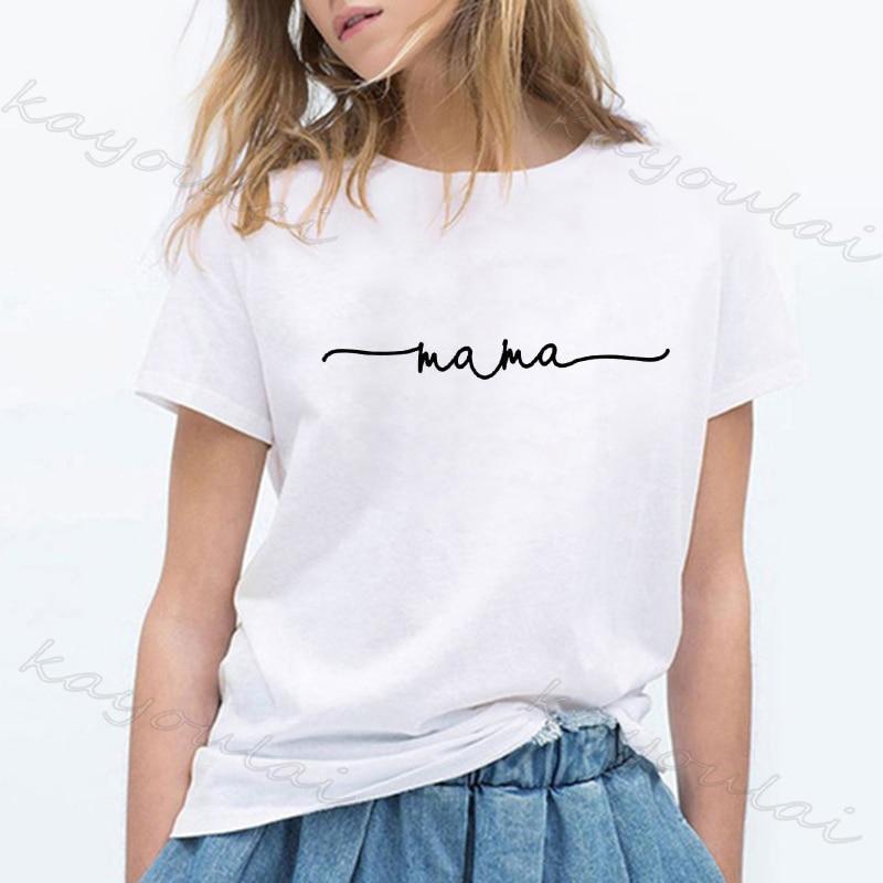 2020 Mother's Day T Shirt Women Fashion MaMa T shirt Mom Shirts Momlife Shirt Gift For Mom Harjuku Aesthetic Shirts for Moms