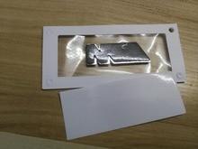 2x New Mpower M-TECH SPORT Side Wing Chrome Black Car Badge Emblem Auto Logo Body Sticker 45mm x 15mm