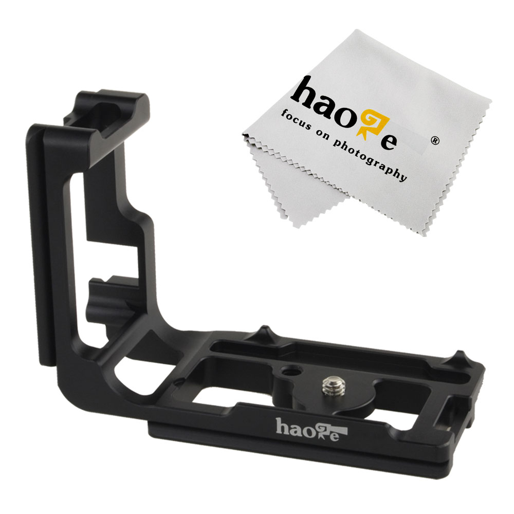 Haoge Vertical Shoot QR Quick Release L Plate Camera Bracket Holder for Canon 5D Mark III 5D3 5DS 5DSR Body Camera