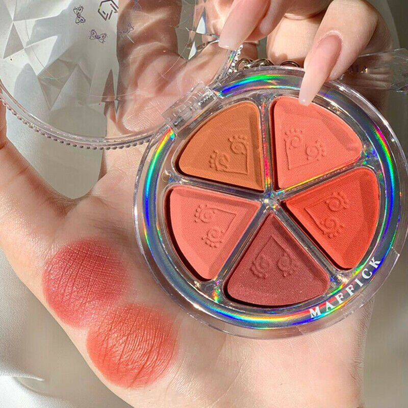 AliExpress - 5 colors blush eyeshadow all-in-one palette petal earth matte eyeshadow blush delicate non-flying powder eyeshadow blush palette