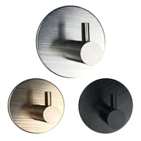 1pc stainless steel high end hook self adhesive clothes hange bags key rack kitchen towel hanger bathroom accessory organizer