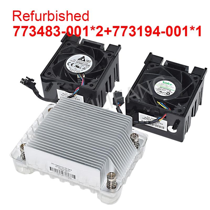 Ventilador de Refrigeração 779093-001 e Dissipador de Calor 773194-001 para Dl180 Testado Bem 773483-001 779091-001 Gen9