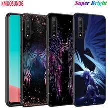 Schwarz Abdeckung Mode Angel wings für Huawei Nova 5 3i P Smart Z Plus 2019 P30 P20 Pro P10 P9 p8 Lite Plus Telefon Fall