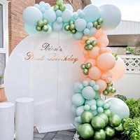 macaron blue balloons chain set garland arch kit baby shower wedding birthday party decoration baloon backdrop